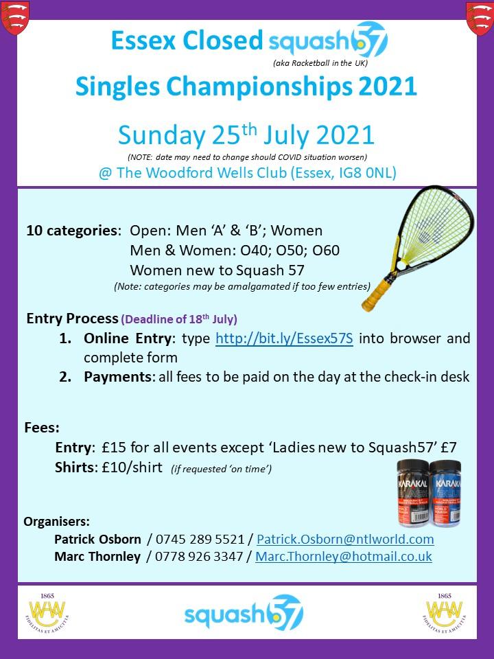 Essex Closed Squash57 – ENTER NOW